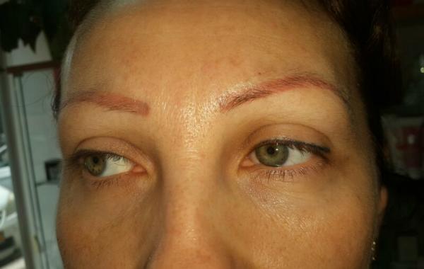 איפור קבוע - גבות - לפני